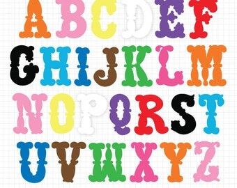 Alphabet Clipart ABC Clip Art Instant Digital Download Images Digital Scrapbook Alphabet Clip Art