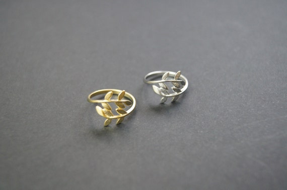Popular Willow Leaf  Adjustable Ring(Gold and Silver)