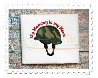 Military Helmet Applique - Mommy