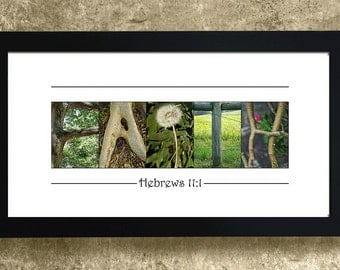 FAITH, Hebrews 11 : 1, Mother's Day Gift, Gift for Aunt, Gift for Grandma, Religious Gift, Faith Sign