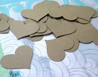 Confetti. 100+ paper hearts  - perfect for wedding decorations - card making - scrap booking - small paper tags - paper hearts punches