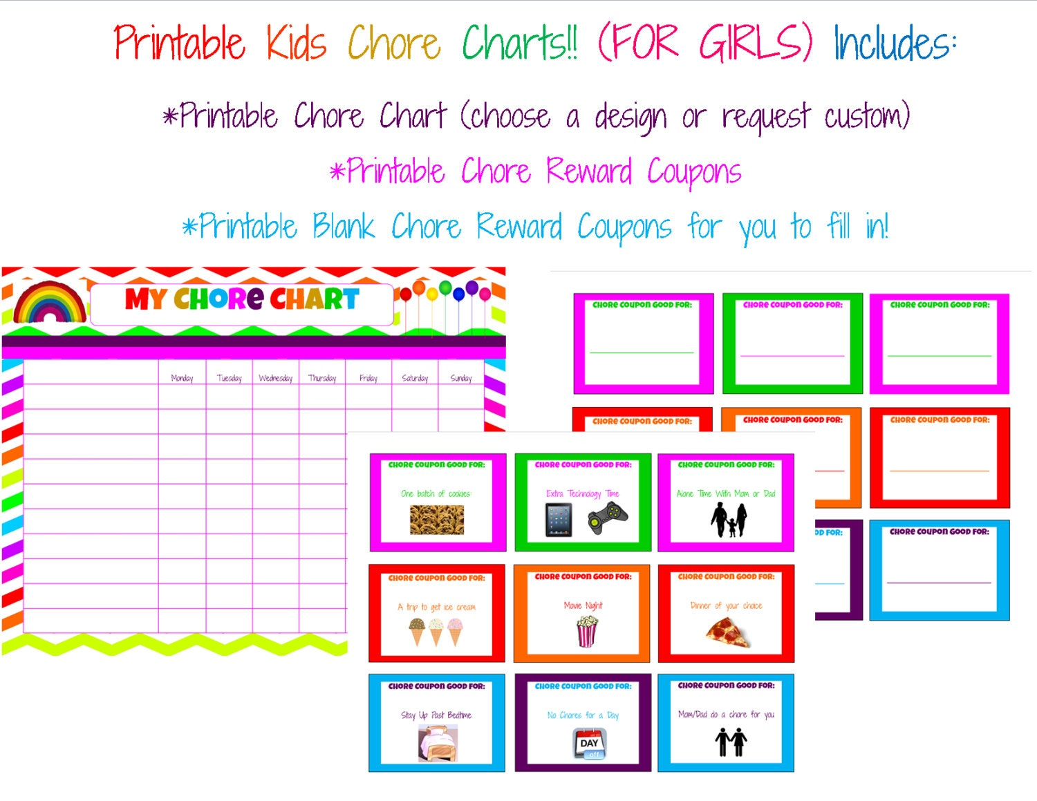 This is an image of Comprehensive Reward Chart Printable
