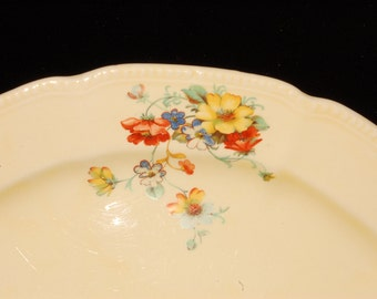Oval Serving Platter Yellow Red Blue Flowers Edwin Knowles free shipping