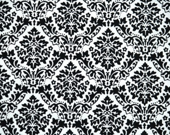Retro Flock Wallpaper by the Yard 70s Vintage Flock Wallpaper - 1970s Black and White Flock Damask