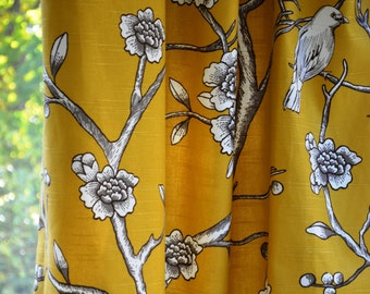 Pair of Custom  Curtains or Drapes, 50 x 96 inches at this price, any size available, Dwell Studio Vintage Blossom