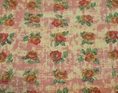 Fat Quarter, Flower Fabric, Floral Rose Fabric, Shabby Chic, Lily Rose of Roses Hibiscus CM38 by Westminster, Out of Print, Hard to Find