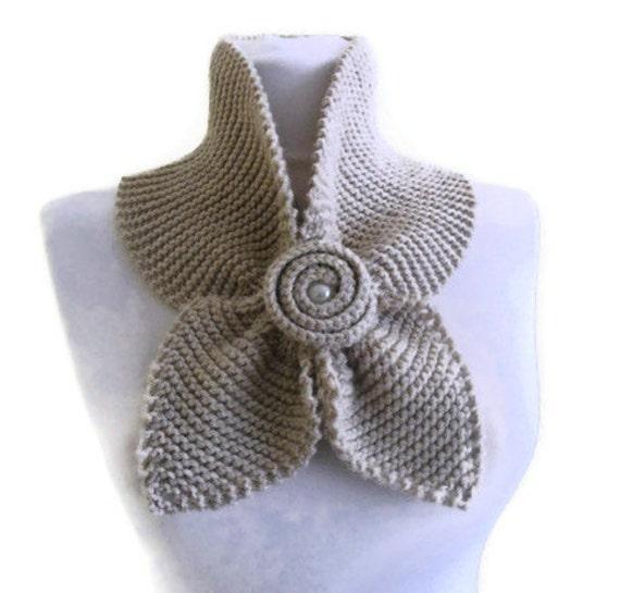 avena neckwarmer, única bufanda, tejer bufanda, regalo para las fiestas, las mujeres accesorios, día de San Valentín