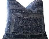 Indigo Pillows - Kintamani Pillows - Ralph Lauren Pillows - Navy Pillow Cover - Indigo LUMBAR Pillow - Cushion Covers - Throw Pillow