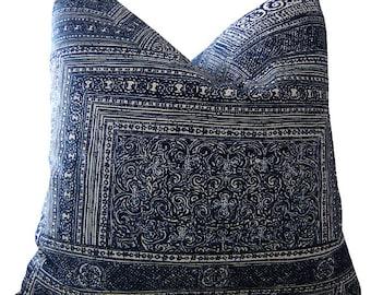 Indigo Pillows - Kintamani Pillows - Ralph Lauren Pillows - Navy Pillow Cover - Indigo Lumbar Pillow - Cushion Covers - PILLOW COVER ONLY