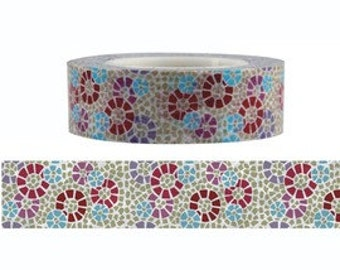 Mosaic Flower Washi Tape (15M)