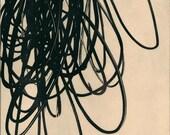 "Sale . Art Print. Etching Print . Minimalist Home Decor : Searching (in Black) . Print Size 12"" x 18"" . unframed"