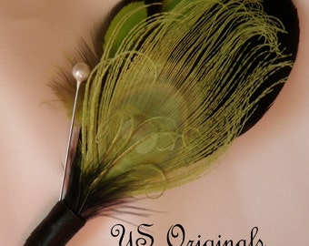 Chartreuse Green Charmer Boutonniere