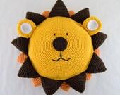 Lion Pillow - PDF Crochet Pattern - Instant Download - Animal Cushion Crochet Nursery Baby Shower decor