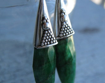 Green Onyx  EARRINGS, Dangle earrings, Statement earrings