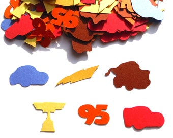 Lightening McQueen Cars Themed Party Confetti Set of 100 Assorted Pieces