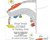 Litte Car Invitation Set (PDF Printable)