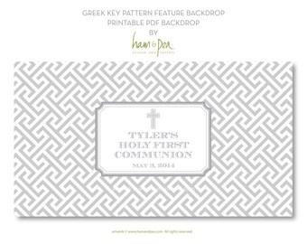 Greek Key Pattern feature backdrop - digital file PDF only