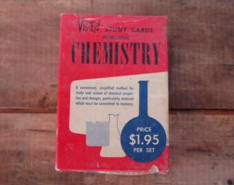Vintage Chemistry Flash Cards, c. 1958