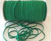 "Emerald Green 1/8"" Skinny Elastic skinny Fold Over Elastic Emerald green P684 FOE 1/8"" inch Baby Headbands 5 or 10 yards Skinny Elastic 4mm"