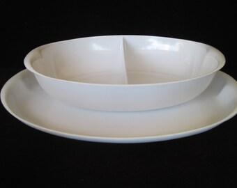 Lenox Ware  Serving Platter and Divided Serving Bowl