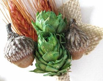 ACORN ORANGE Wheat Wild Boutonniere