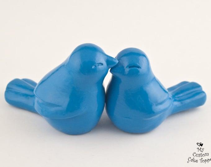 Simplistic Love Birds Wedding Cake Topper