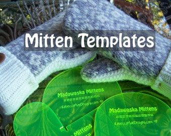 MITTEN PATTERN TEMPLATES - how to make mittens from upcycled felted wool sweaters sewing diy tutorial