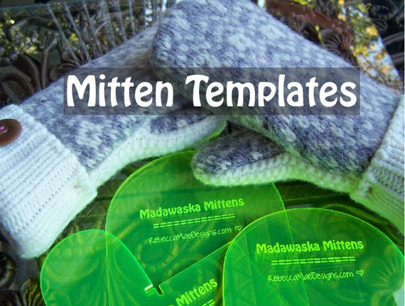 MITTEN PATTERN TEMPLATES - how to make mittens from upcycled felted ...
