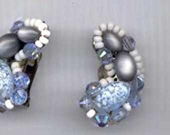 Awesome vintage earrings signed Hobe