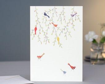 Birds in the Tree Card