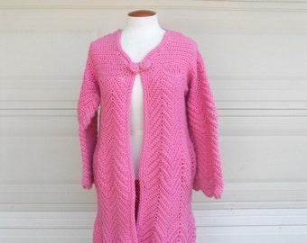 Pink sweater coat | Etsy