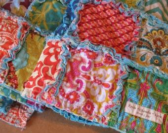 rag quilt KING - CUSTOM - reversible fabric TBD