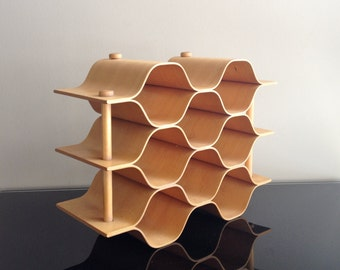 Mid Century - Bentwood Honeycomb Glass Carrier