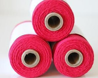 SALE 100% Cotton Twine Maraschino Bakers Twine The Twinery 240 Yard Spool Dark Maraschino Red Twine