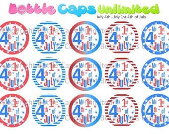 "15 July 4th - My 1st 4th of July Download for 1"" Bottle Caps (4x6)"