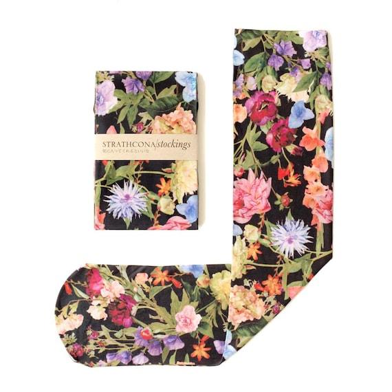 Black Floral Stocking