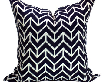 Chevron Print pillow cover in Navy