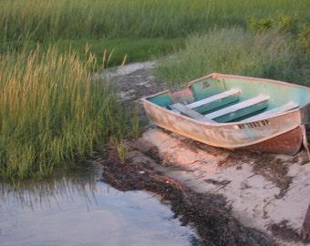 Row Boat Framed art print   Magic Hour Photography   8x10   11 x14   16x20   20 x30  Home Decor   Beach house decor   Home decor  Summer
