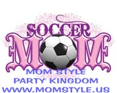 Soccer Mom iron on transfer for white t-shirts