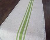 Grain Sack Table Runner 12 x 84 or 14 x 84 - Choose Your Colors - Burlap Table Runner
