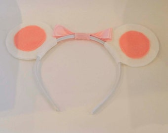 Angelina Ballerina Inspired mouse ears with bow