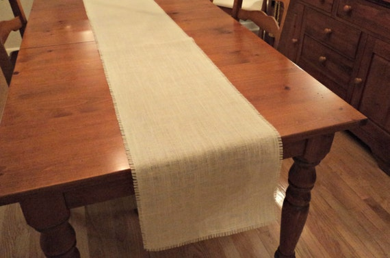 12 wide white burlap table runner ivory burlap by for 12 wide table