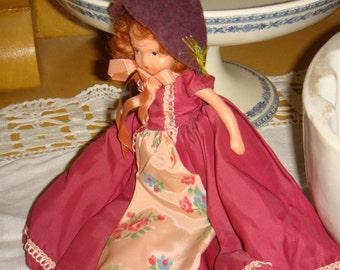 """Nancy Ann Story Book Doll 6 1/4"""" Frozen Leg Collectible Doll"""
