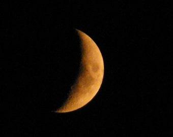 8x10 crescent moon