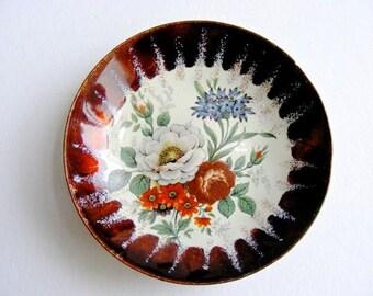 Ring Holder Enamel flowers Small Trinket Dish - Boho Home Decor