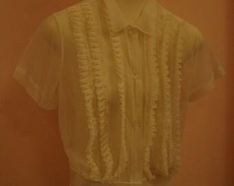 White blouses - vintage styles