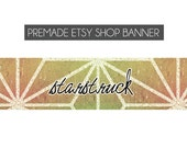 premade etsy shop banner - geometric, textured, sunrise, gradient, warm tones, modern, simple