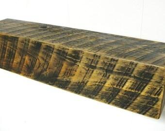 "BARNWOOD  MANTEL 30"" BEAM - Floating Shelf - Barn Wood Beam with distressed finish - Wall Shelf - Wood Shelf - Wooden Shelf - Reclaimed Wood"