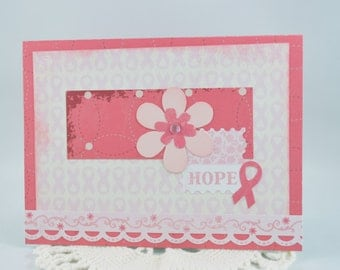 Breast Cancer Friendship Card Pink Ribbon