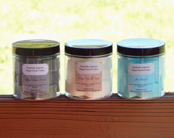 Spa Gift for Her - Sugar Scrub Cubes - You Choose 3 Scents - Gift Set or Pamper Yourself - 8 oz. Jar